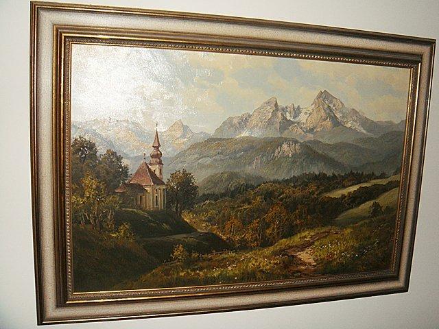 Estate Antique Oil Painting on Canvas