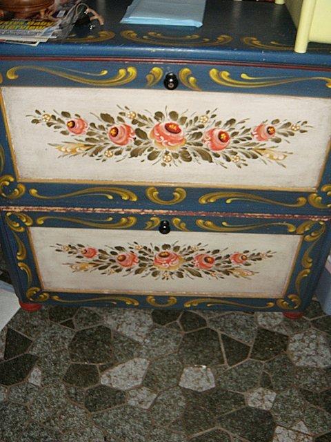 Estate German 2 Door Cabinet, Painted