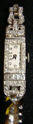 Estate Platinum with Diamonds Ladies Watch