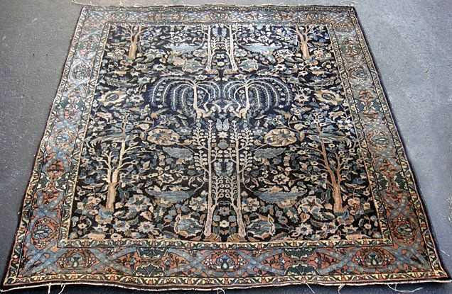 Estate Antique Persian Tabriz Hand Woven Carpet