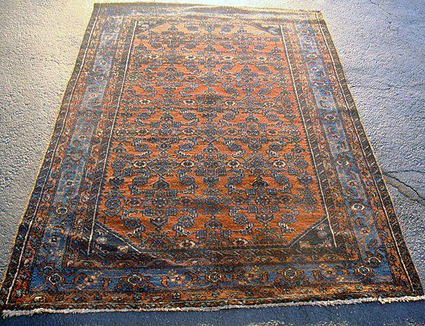 Estate Antique Persian Ingelis Hand Woven Carpet