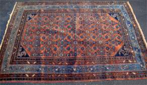 Estate  Antique Persian Ingelis Hand Woven Carpet
