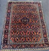 Estate Antique Persian Serreband Hand Woven Carpet