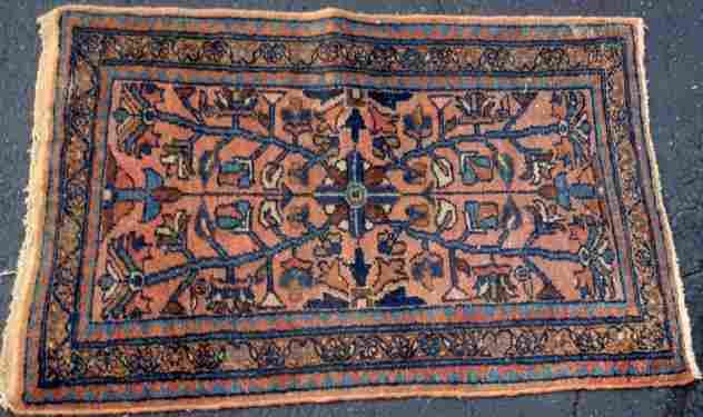 Estate Antique Persian Hamadan Hand Woven Rug