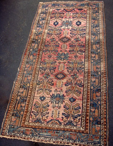 Estate Antique Persian Hamadan Hand Woven Carpet