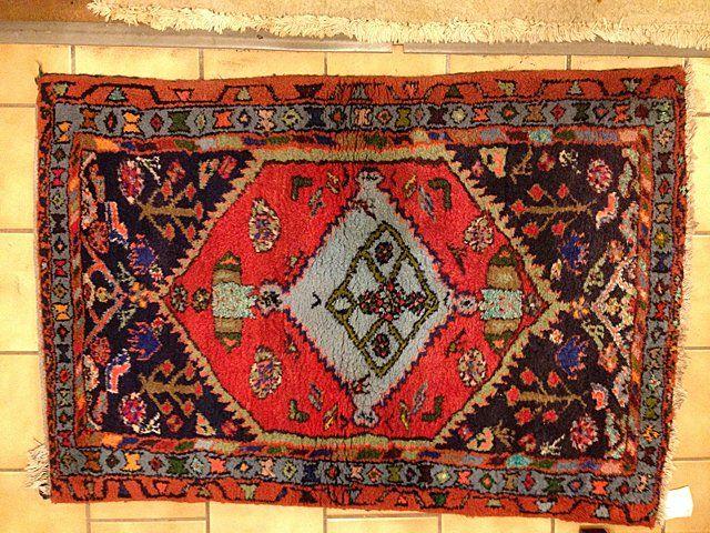 Estate Antique Hand Woven Hamadan Persian Carpet