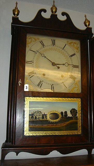 Eli Terry & Son Wooden Works Pillar and Scroll Clock