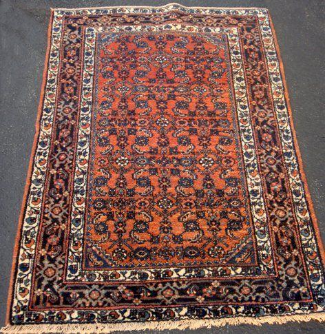 Estate Antique Persian Serreband Hand Woven Carpet
