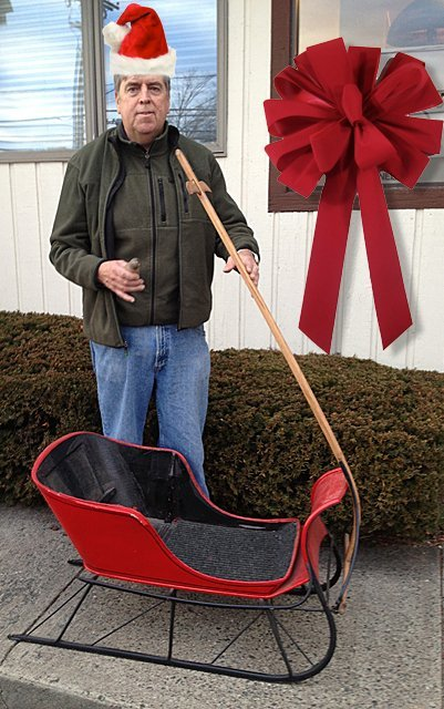 Antique Child's Currier and Ives Pull Ice Sleigh