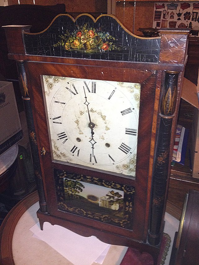 Silas Hoadley Pillar and Splat Shelf Clock