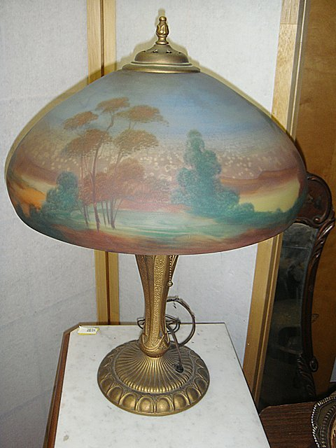 Reversed Painted Table Lamp