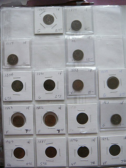16 Early Pennies