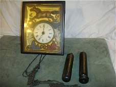 Early German Picture Frame Clock
