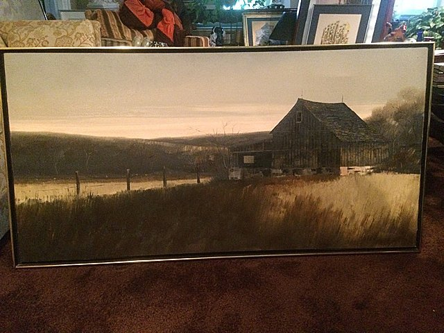 Signed Oil Painting, Linda Nyman
