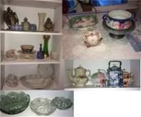 Fine China and Cut Glass Lot