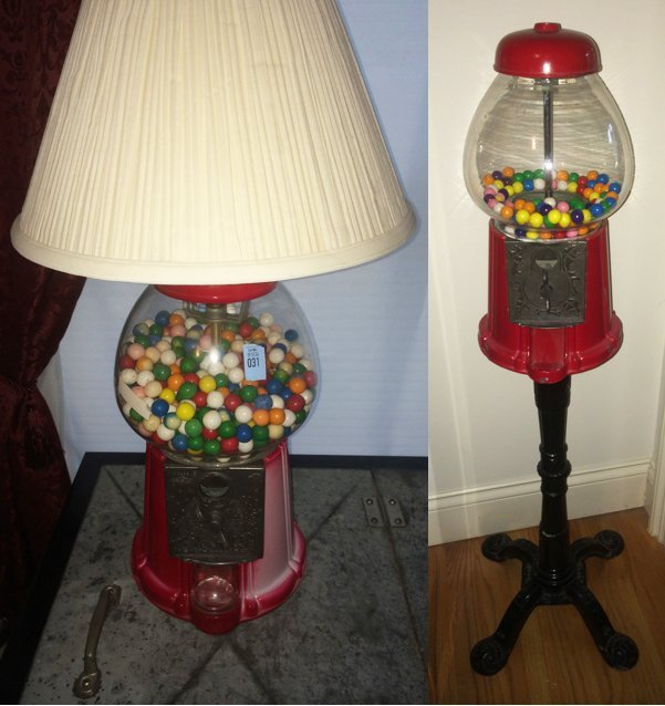 Lamp and Floor Stand Gumball Machine