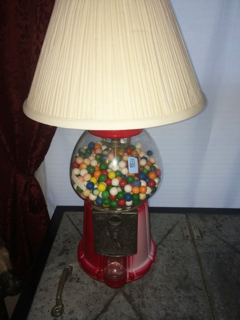 Lamp and Floor Stand Gumball Machine - 2