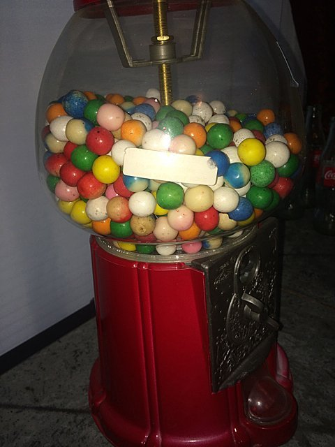 Lamp and Floor Stand Gumball Machine - 5