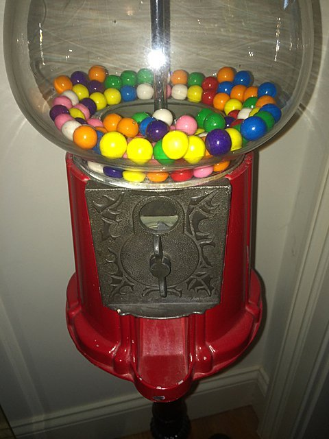 Lamp and Floor Stand Gumball Machine - 9