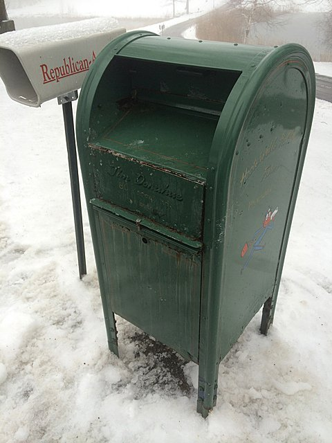 Vintage Mail Collection Box
