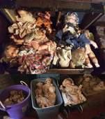Vintage Steamer Trunk & Dolls
