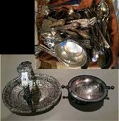 Mixed Lot of Silver and Silver Plate