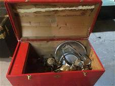 Vintage Chest and Silverplate Lot