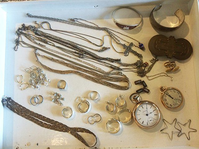 Sterling & Gold Jewelry Lot