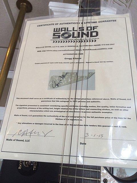 Gregg Allman Autographed Guitar - St. Jude Children's - 3