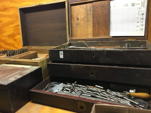 Antique Wooden Toolboxes