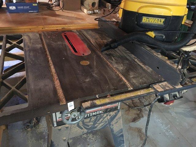 Table Saw & Shop Vac