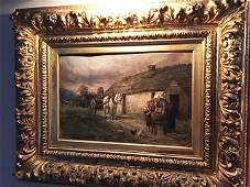 Estate Oil Painting by William Henry Carter