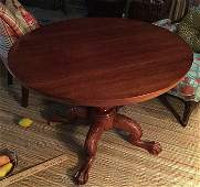Carved Antique Clawfoot Mahogany Table