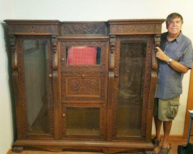 Carved Gargoyle Bookcase