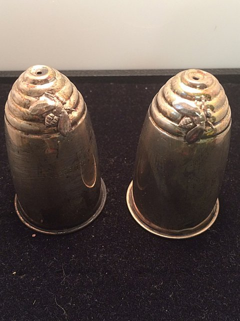 Sterling Silver Beehive Salt and Pepper Shakers
