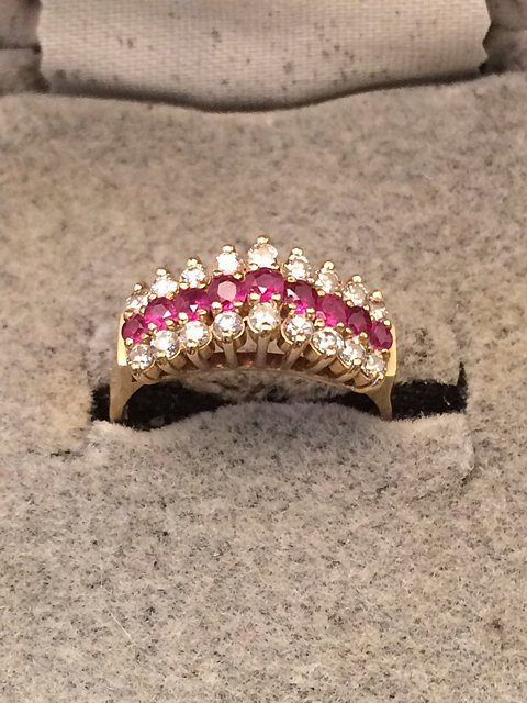 14kt Gold Ruby and Diamond Ring