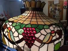 Antique Leaded Glass Chandelier