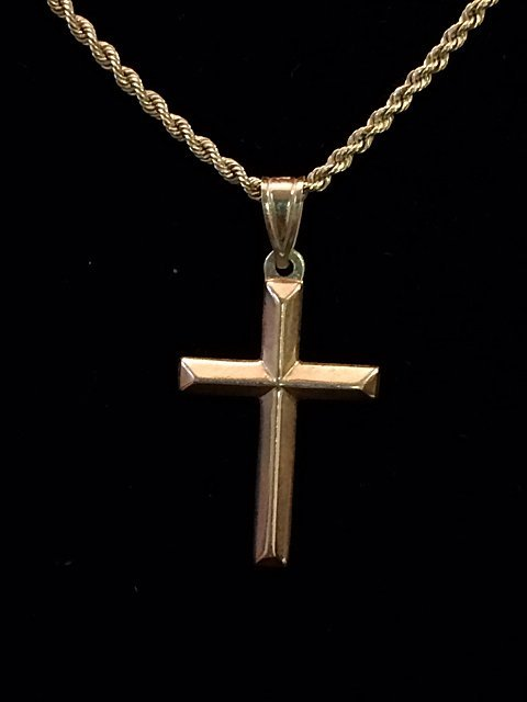 14kt Gold Cross and Chain