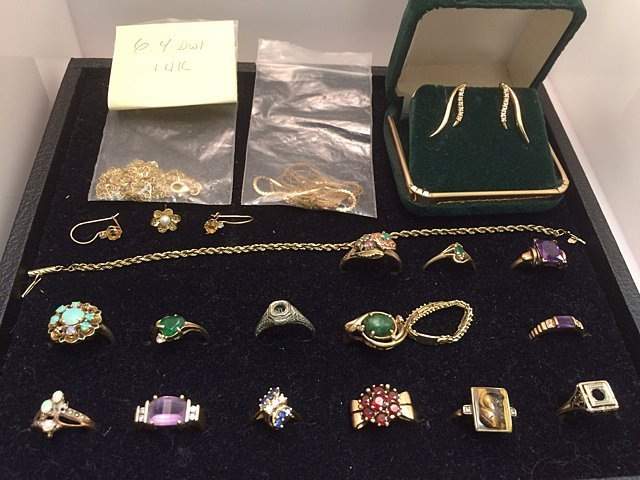 Estate Gold Jewelry Lot