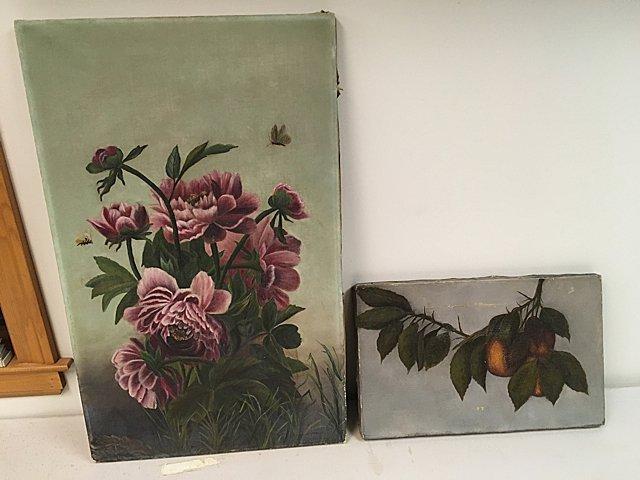 2 Antique Oil Paintings