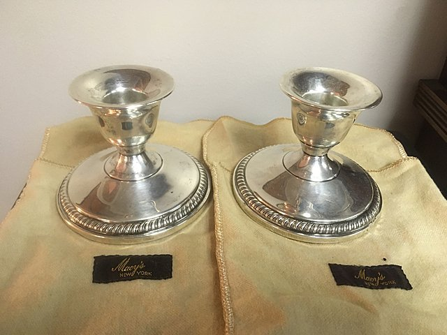 Sterling Silver Candle Holders