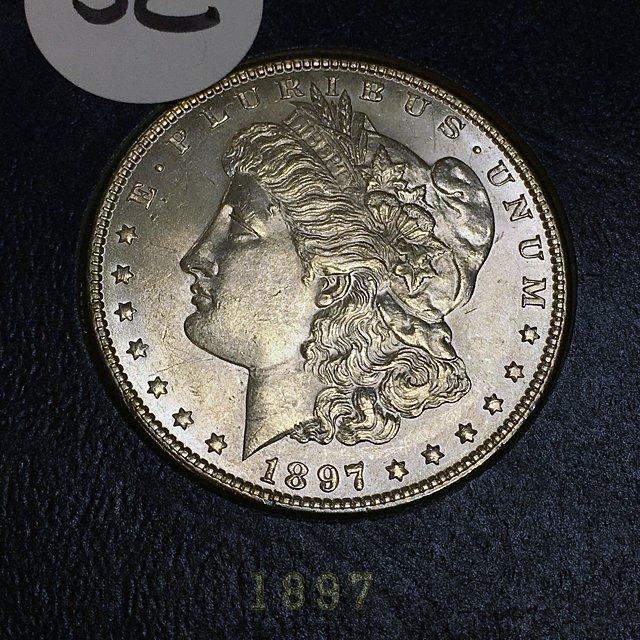 1897 Morgan Silver Dollar, BU Condition