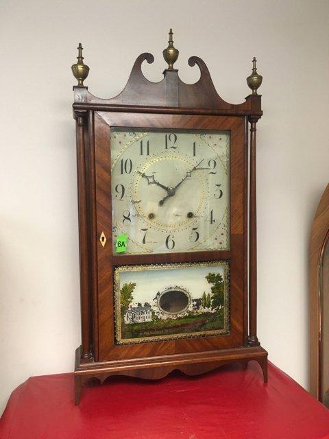 E. Terry & Sons Pillar and Scroll Clock