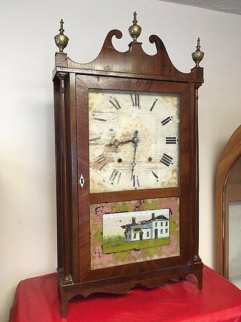 Riley Whiting Pillar and Scroll Clock