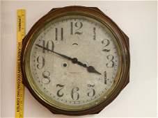 Oak New Haven Clock Co. Gallery Clock