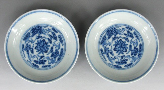 5: Chinese Blue And White Porcelain Pairs Tea Dishes