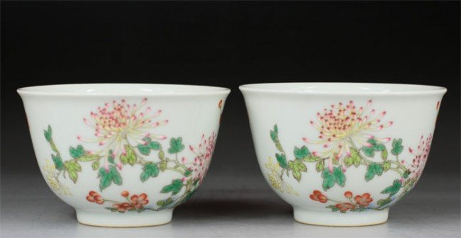 17: Chinese Pairs Famille Rose Bowls