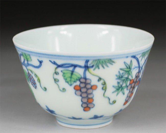 18: Chinese Doucai Tea Cup