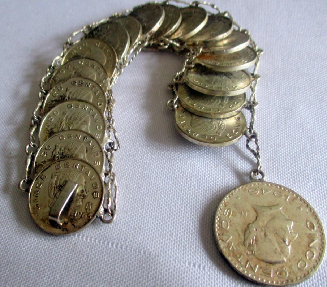 Mexican Five Centavos Bracelet