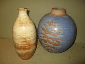 Two Pieces of Studio Pottery